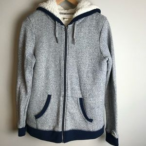 ROXY Zip Up Hoodie Jacket   Size L